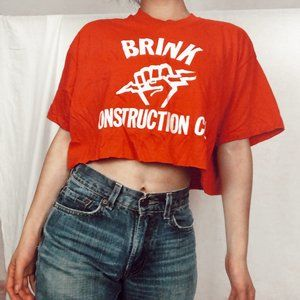 VTG Red Brink Construction Co Graphic Tee